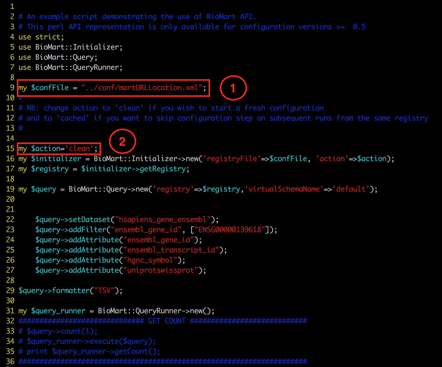 BioMart Perl API